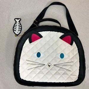 Betsey Johnson Cat Weekender Bag